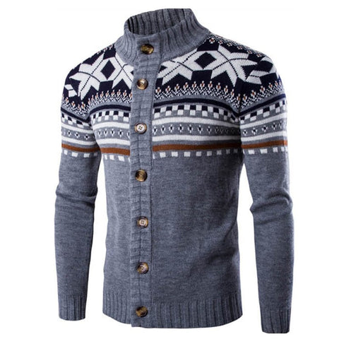 New Chic Autumn Winter Cardigan Sweater Mens Long Sleeve Sweaters Jacket Casual Christmas Knitted Male Sweater Coat Knitwear 2XL