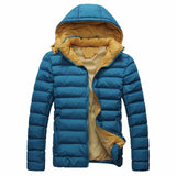 2017 New Winter Puffer Jacket Fashion Style Casual Slim Fit Hooded Youth Male Windproof Warm Down Coat Parka 3XL Plus Size