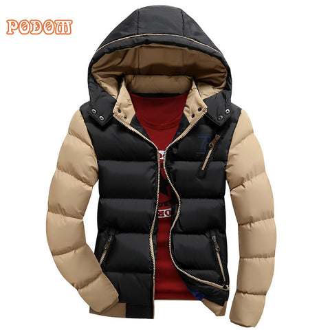 2017 Winter Jacket Warm Down Coat Men High Quality Thicken Clothing Male Casual Slim Fit Zip Up Hooded Jackets Puffer Coats 3XL