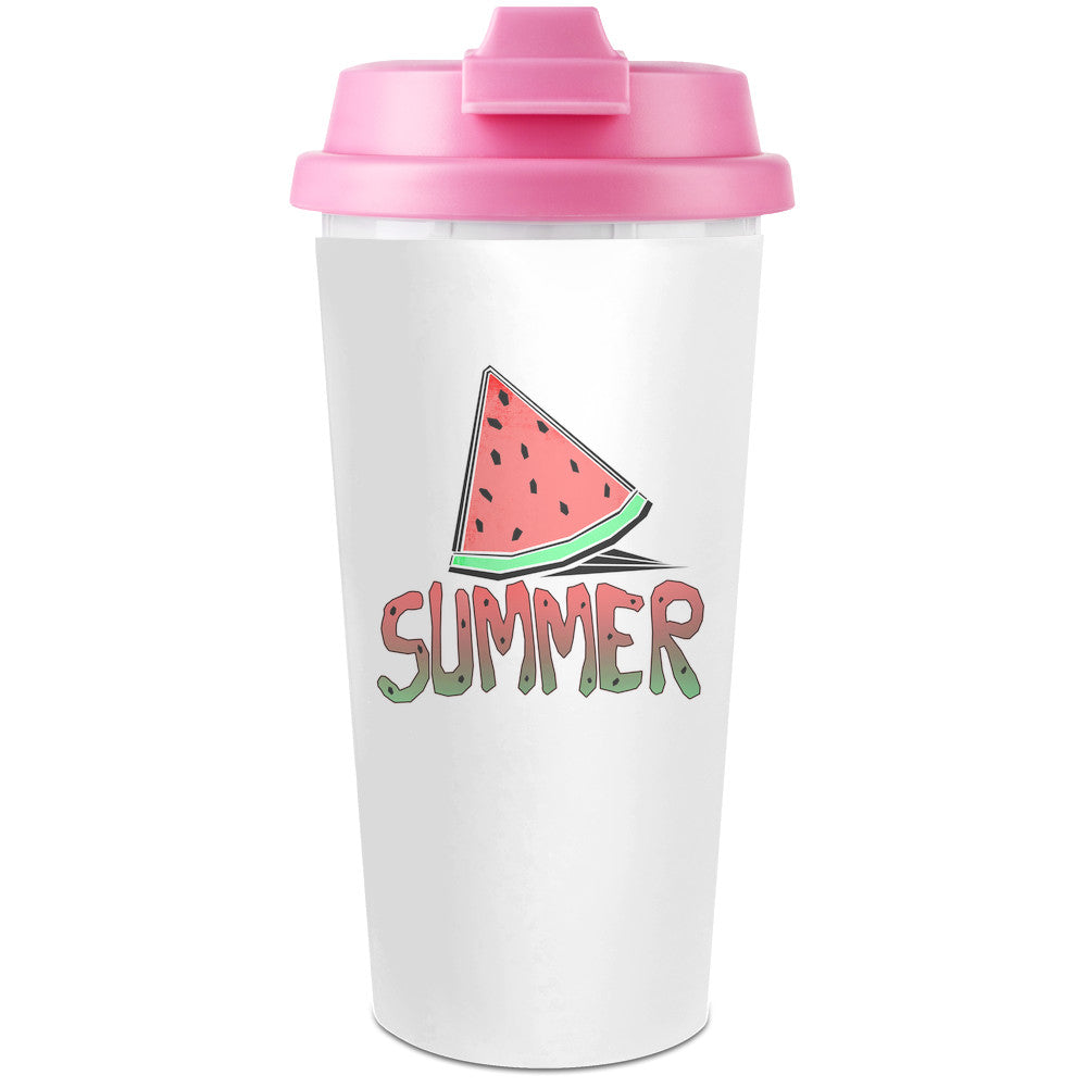 Summer Plastic Travel Coffee Cup - 450 ml - Enjoy Your Drinks Everywhere