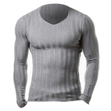 2017 New Winter Brand Clothing Mens Long Sleeve Fitness Knitted T-shirt Homme Bodybuilding Muscle Gyms T Shirt Men Crossfit Tops
