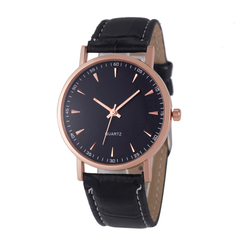 Unisex Leisure Crocodile Leather Analog Quartz Wrist Watch Watches