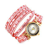 Women Fashion Casual Analog Quartz Rhinestone Watch Bracelet Watch