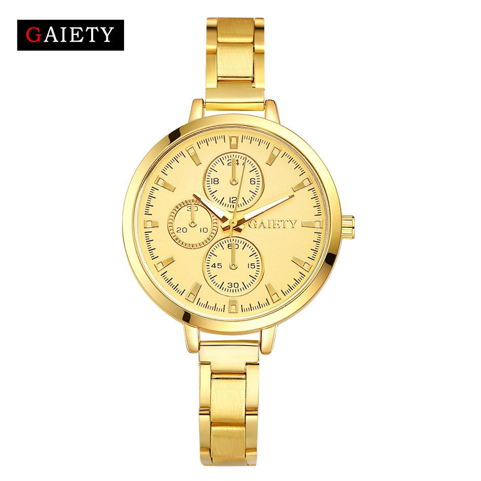 Women Fashion Chain Analog Quartz Round Wrist Watch Watches