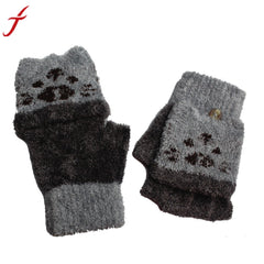 1Pair Gloves Girls Boys Hand Wrist Warmer Winter Fingerless Button holds Gloves Mitten