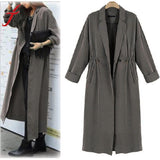 Women Lady Windbreaker Casual Cardigan Long Tops Outwear Jacket Coat Outwear Cool Thin Jacket