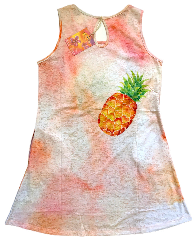Kai Wahine Designs Burnout Tank Dress - Pineapple