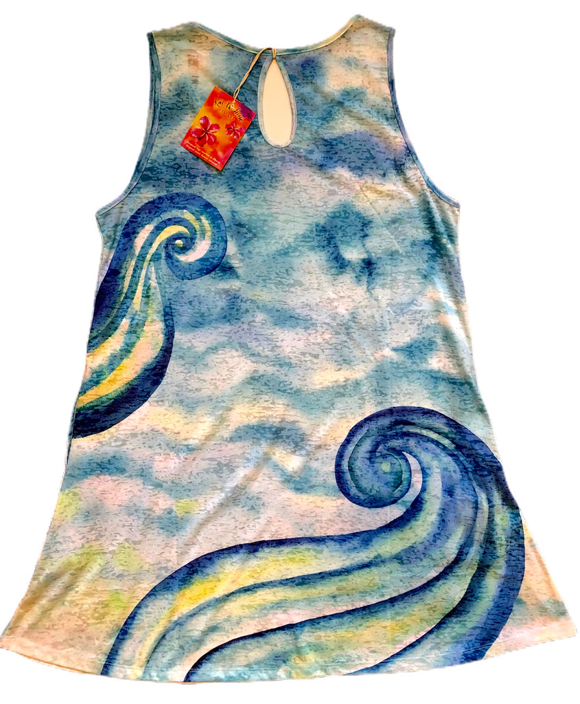 Kai Wahine Designs Burnout Tank Dress - Mermaid