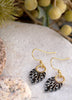 black & white spot earrings with gold
