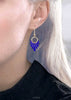 Royal blue earrings with gold