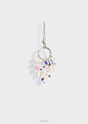 painted pattern earring with silver 0607