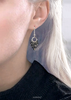 black & shiny bits earrings with silver 0718