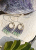 Blue and green fade earrings with silver