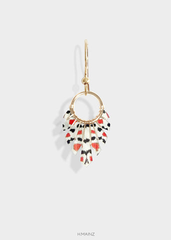 red & black spotted earrings with gold
