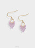 purple solid earrings with gold