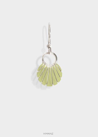 light dusty green earrings with silver