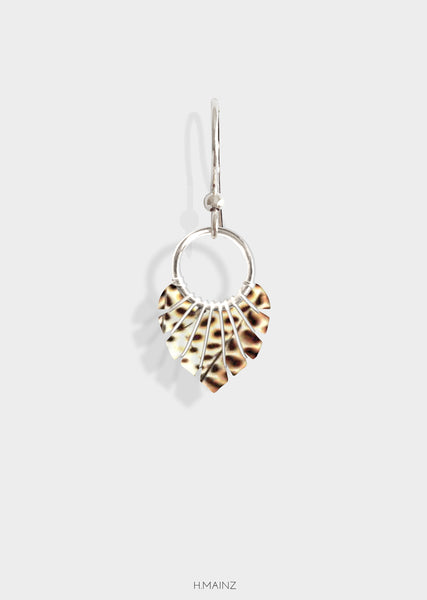animal print earrings with silver