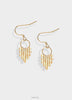 Striped earrings with gold