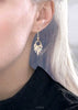 Pastel pattern earrings with gold