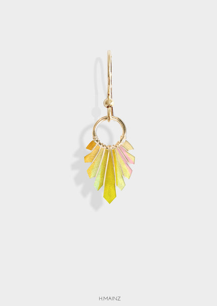 yellow hues earrings with gold