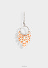 orange pattern earrings with silver