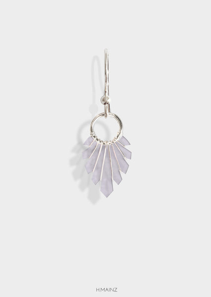dusty lavender earrings with silver