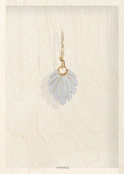 Light grey earrings with gold