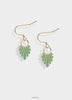 Transparent olive earrings with gold
