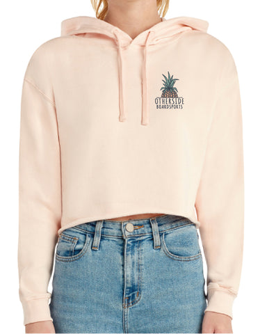 Otherside Pineapple Crop Hooded Sweatshirt