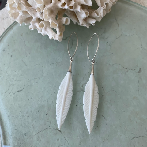 Embella Feather Drop Earrings