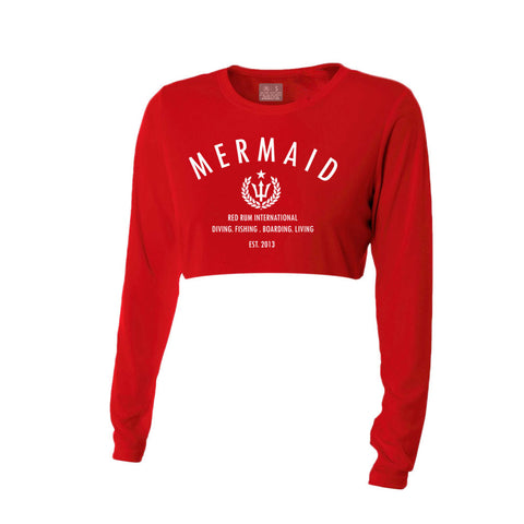 Red Rum Mermaid Performance Crop Top