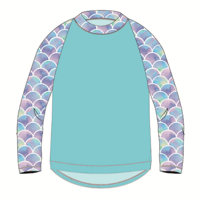 SunPop Life Mermaid Rash Guard