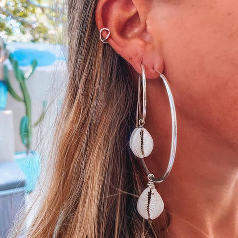 Embella Silent Melody Hoop Earrings
