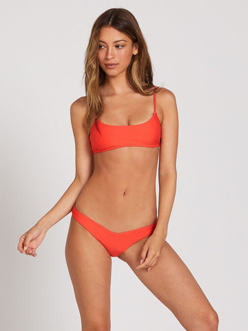 Volcom Simply Solid Scoop Neck Bikini Top