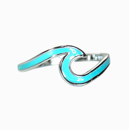 Pura Vida Enameled Wave Ring