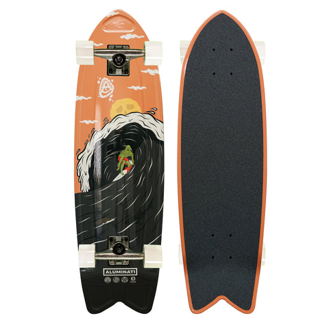 Aluminati Midnight Surf Fish Complete Skateboard