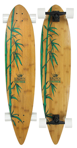 "Krown Exotic Pintail 43"" Complete Skateboard"