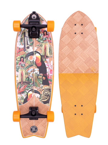 Z-Flex Surfskate Bannana Train Complete Skateboard