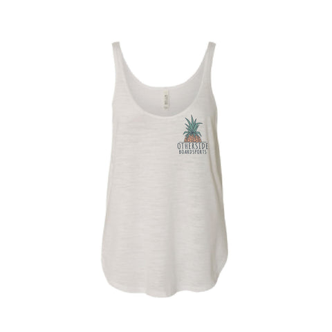 Otherside Ladies Flowy Side Pineapple Tank