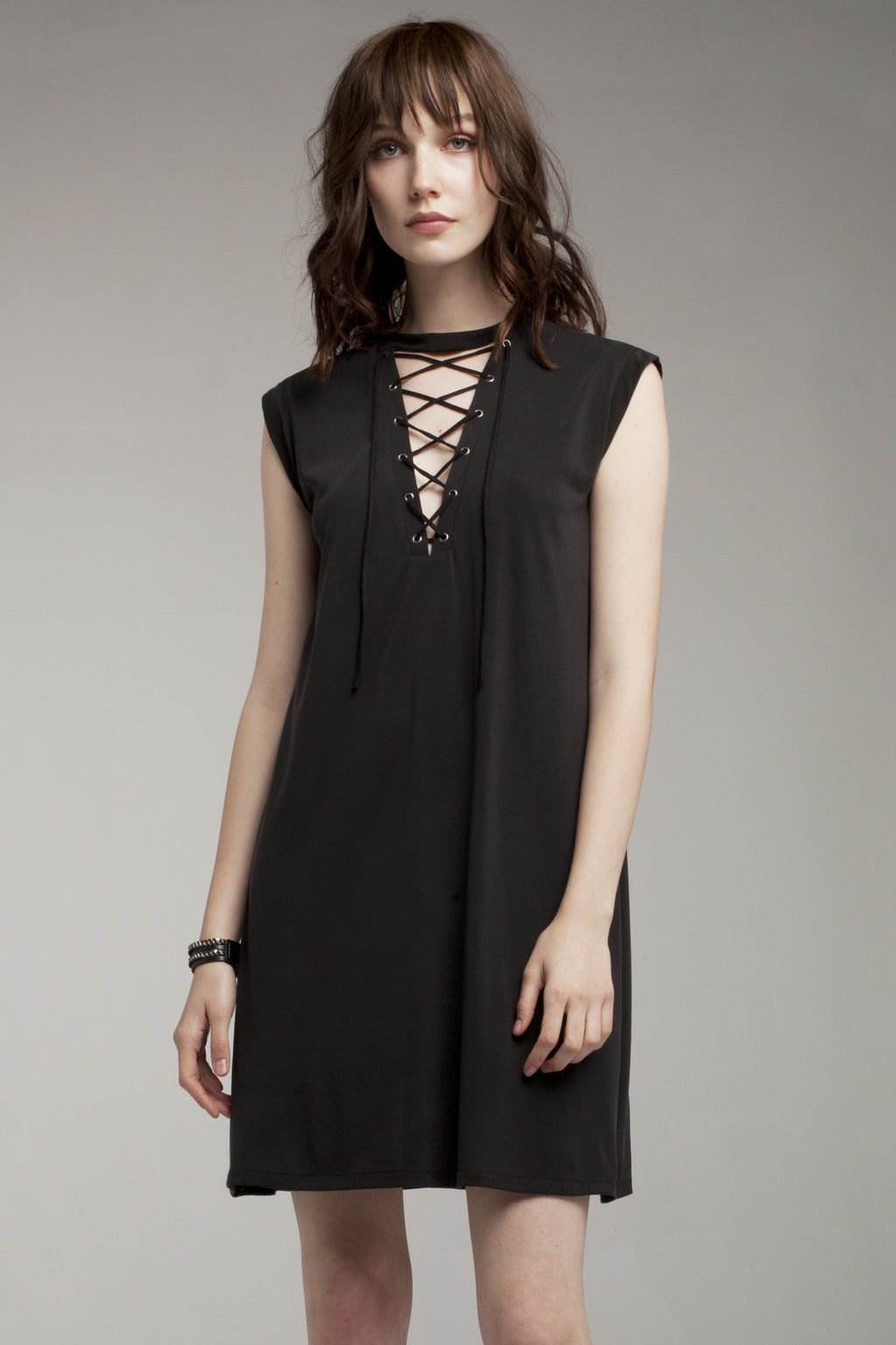 Shannon Lace-Up Dress