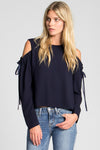 Gemma cold-shoulder crop top