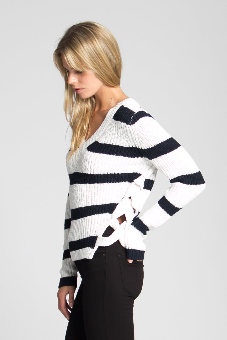 Victory stripe sweater