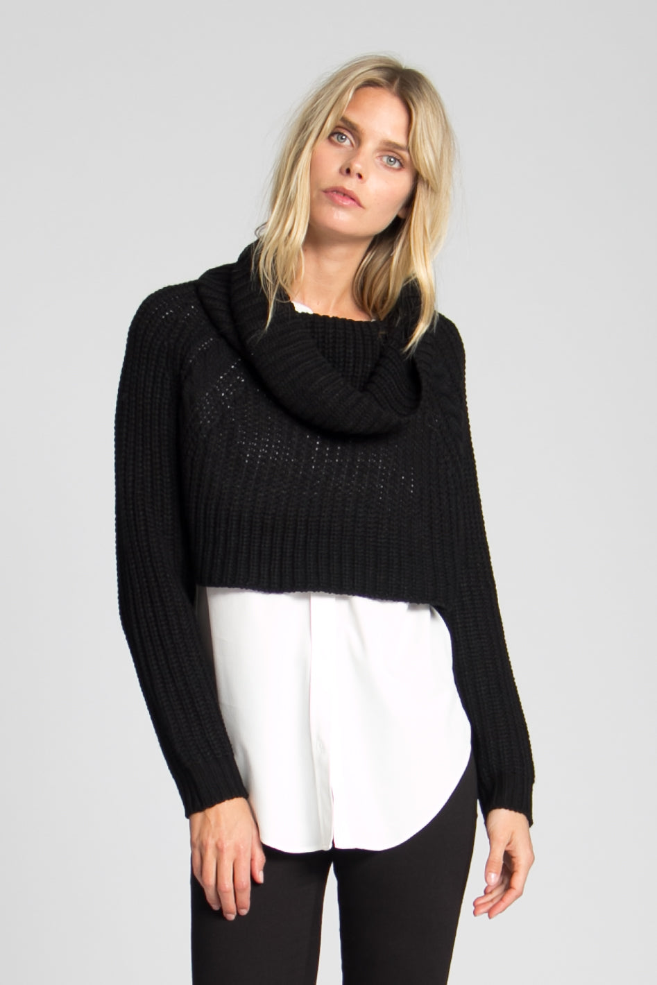 Margot boxy crop sweater