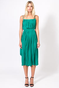 5614cee10686 Green Pleated Slip Dress |Women's Dress | Shop JackMeetsKate.com – Jack  Meets Kate