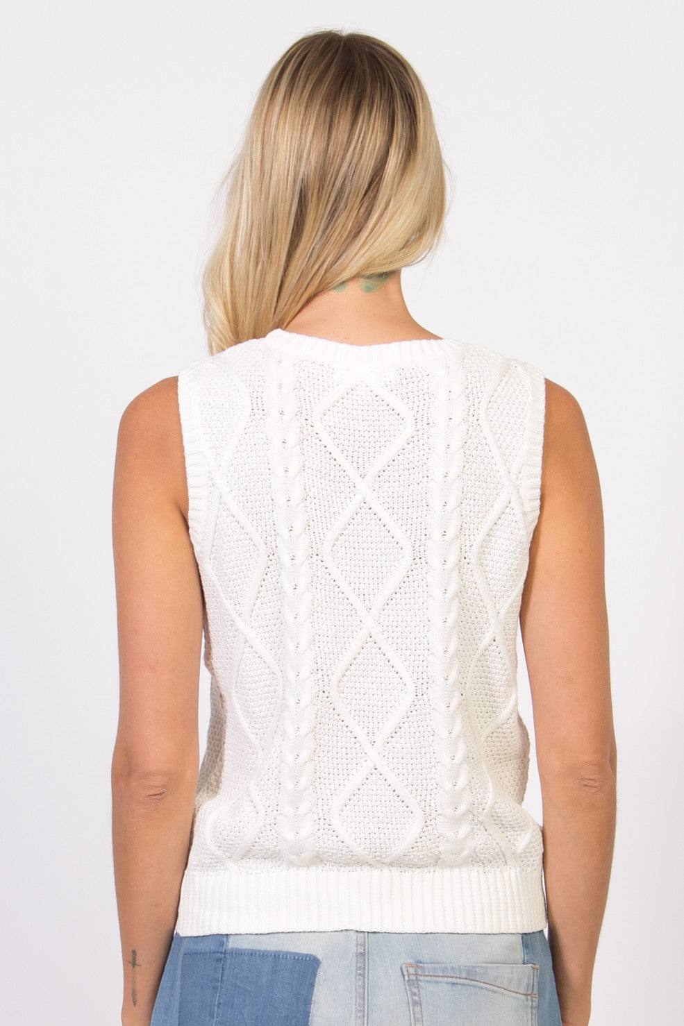 Embroidered Sweater Vest