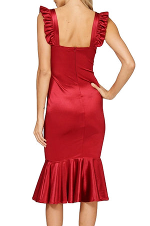 Bustier Front Ruffle Strap Dress