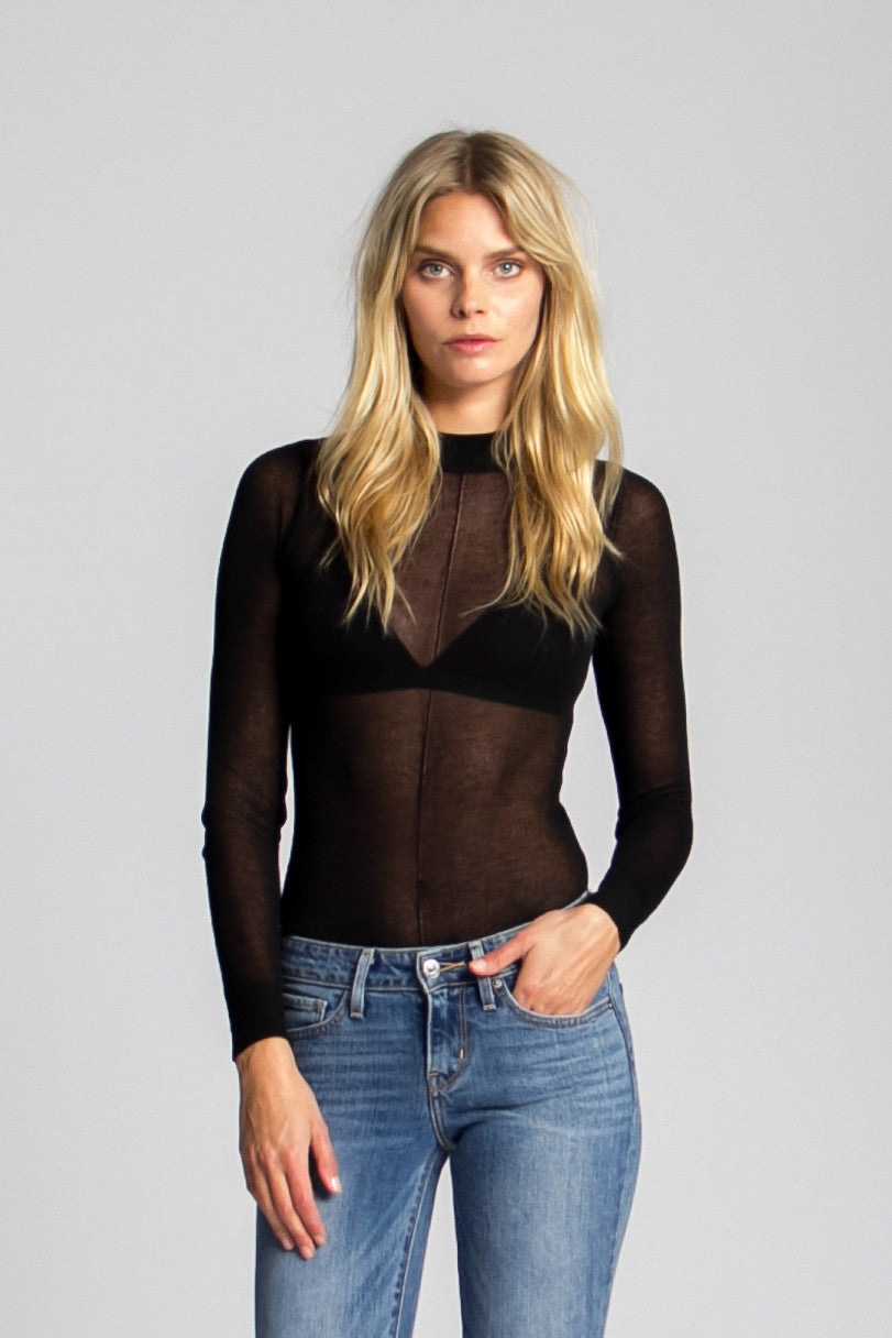 Blondie Sheer Knit Bodysuit