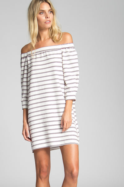 Sorrenti Off-Shoulder Stripe Dress