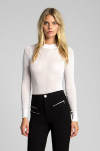 Blondie Sheer Knit Bodysuit - Off White