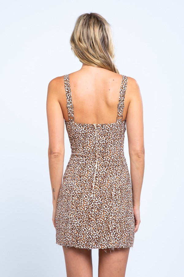 Animal Print Mini Corset Dress